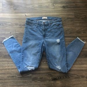 Madewell Distressed High Rise Skinny Jean